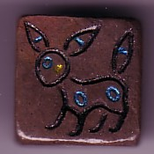 Poke Tiles Shiny Umbreon by OrigamiMommy