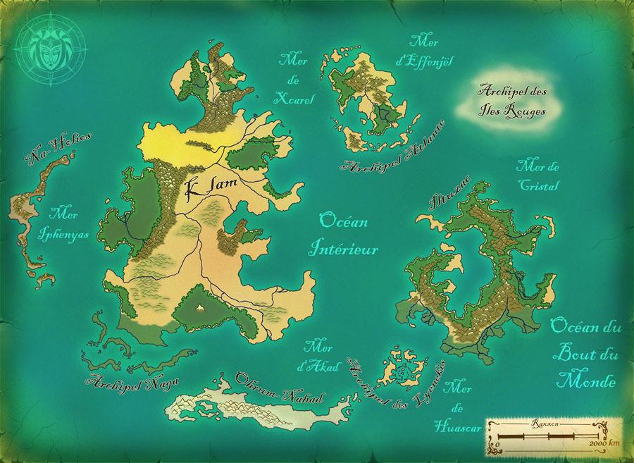 Raxxon world map by Albopictus