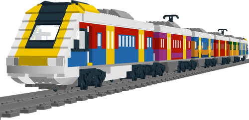 Lego queensland rail ngr with art