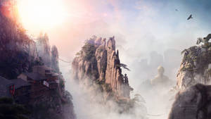 Sunrise in the Valley - Desktopography 2016