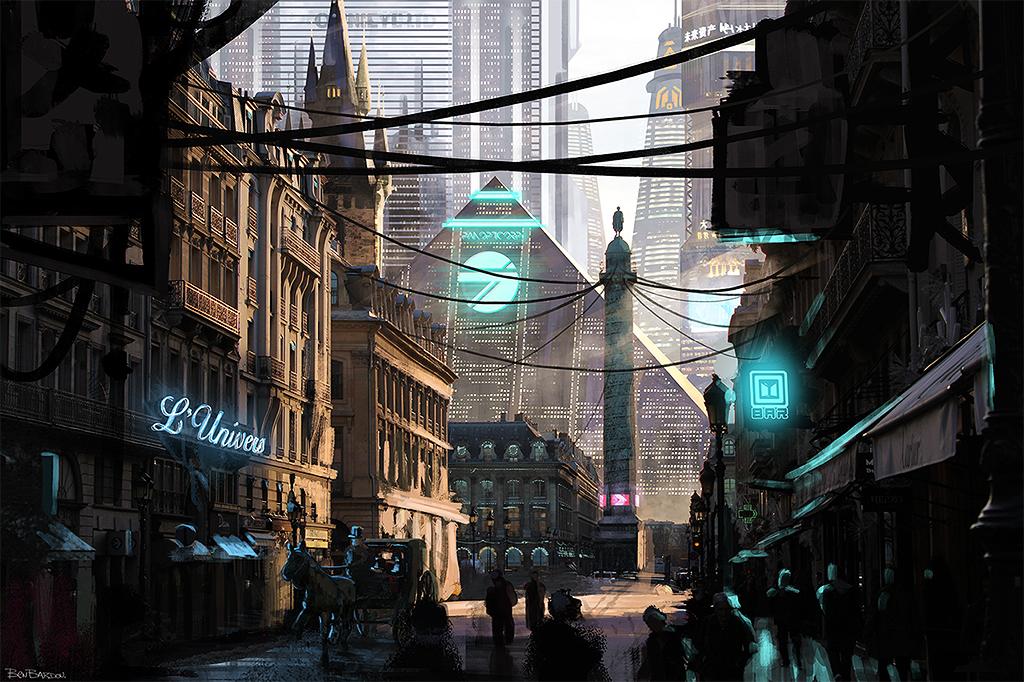 PARIS Megalopolis - Concept Art by benjaminbardou