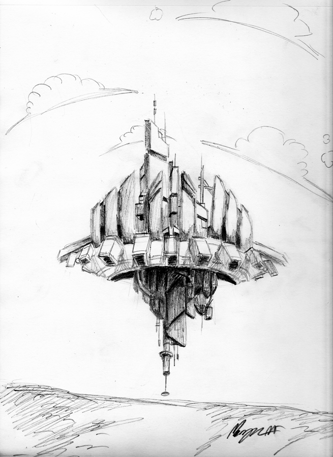 Floating City Drawing