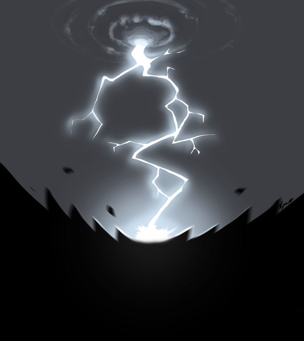 lightning strike by morganicism digital art drawings paintings surreal