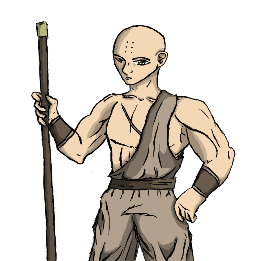 shaolin monk colored by xeonort on deviantart