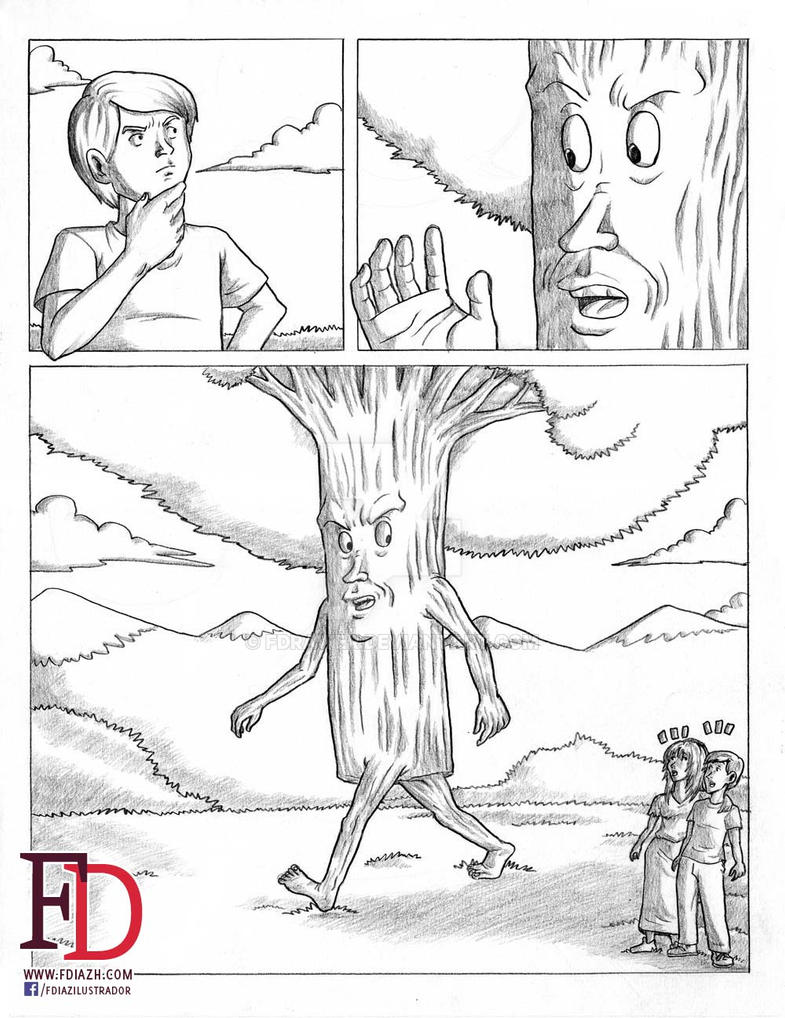 Tree man page 5 of 5 Pencil by fdrawer