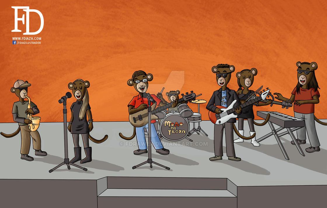 Mono de Troya WIP 2 by fdrawer