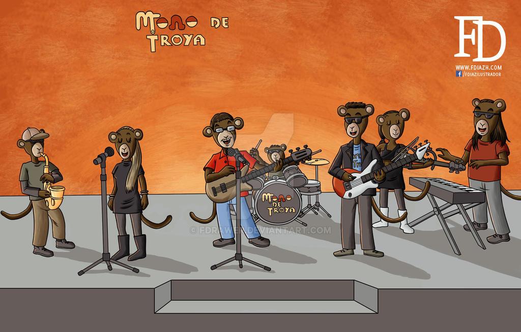 Mono de Troya WIP 3 by fdrawer