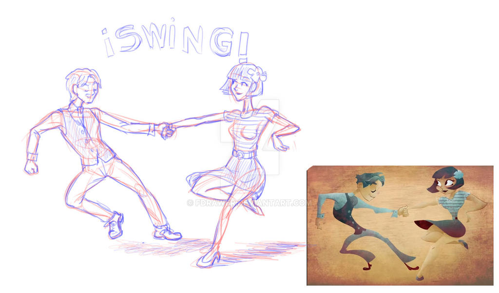 Human figure in motion by fdrawer