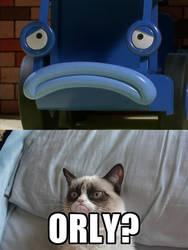 Grumpy Cat Bob the Builder O Rly Meme by missmikayla14
