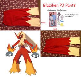 Blaziken PJ Pants by missmikayla14