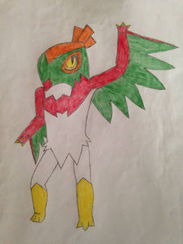 Hawlucha Walking for the First Time