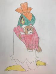 Hawlucha's Teddy Bear by missmikayla14