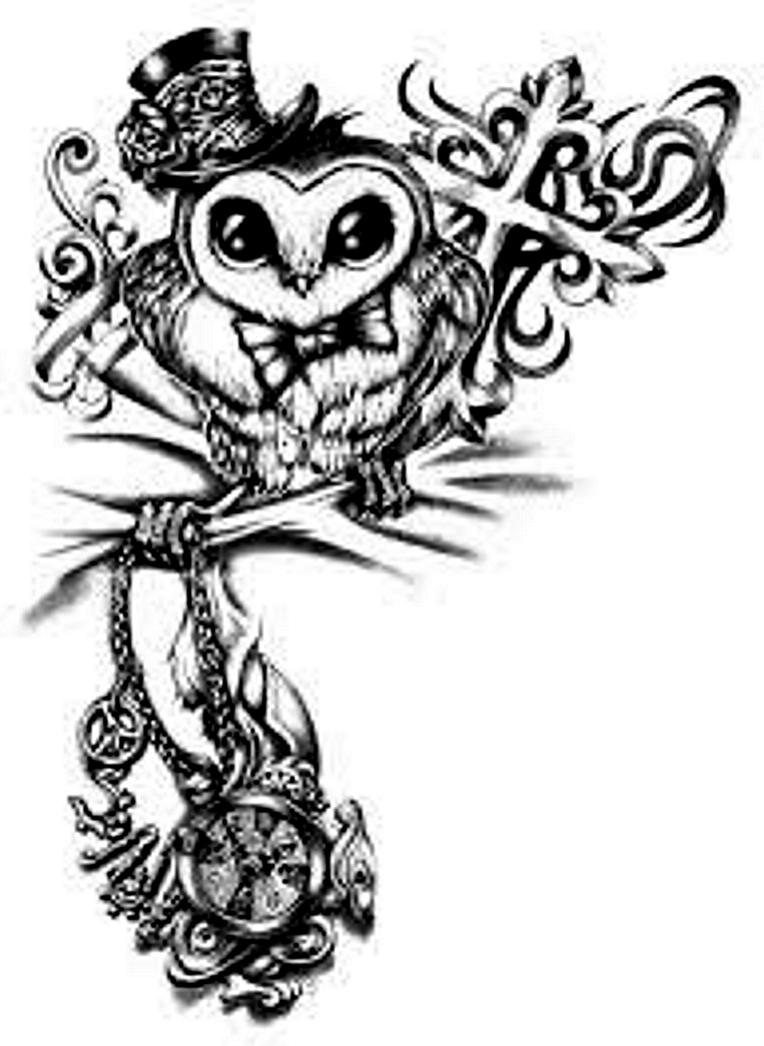 Steampunk Owl by ElectricRoseShade