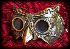 Steampunk Owl Mask by ElectricRoseShade