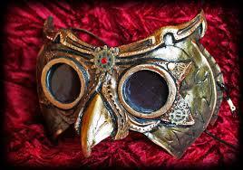 Steampunk Owl Mask by ElectricRoseShade