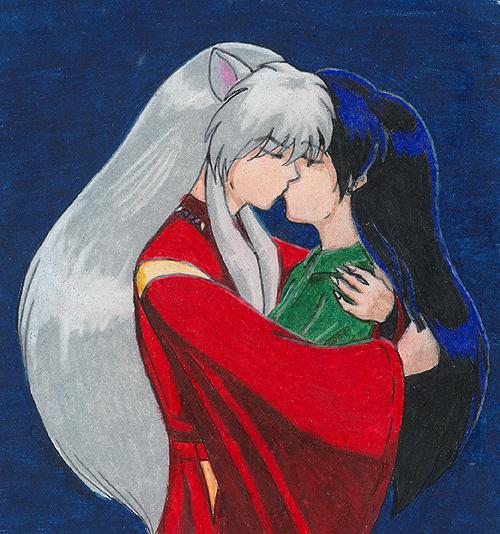 The Kiss - Inuyasha and Kagome by akatala on DeviantArt