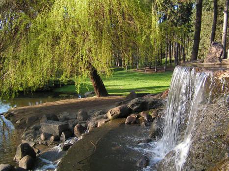 Park Skaryszewski - Waterfall