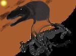 Saurophaganax maximus half-done