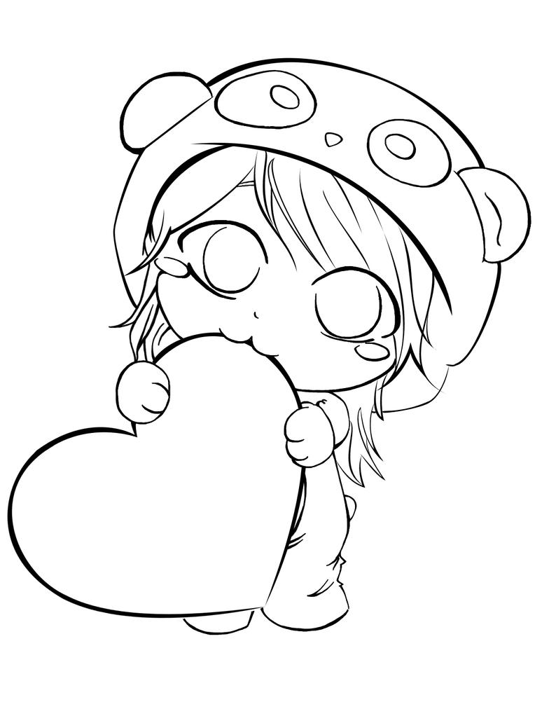 chibi panda pages coloring pages