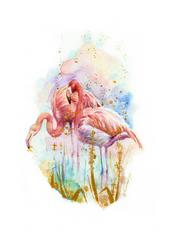 Flamingos by weroni