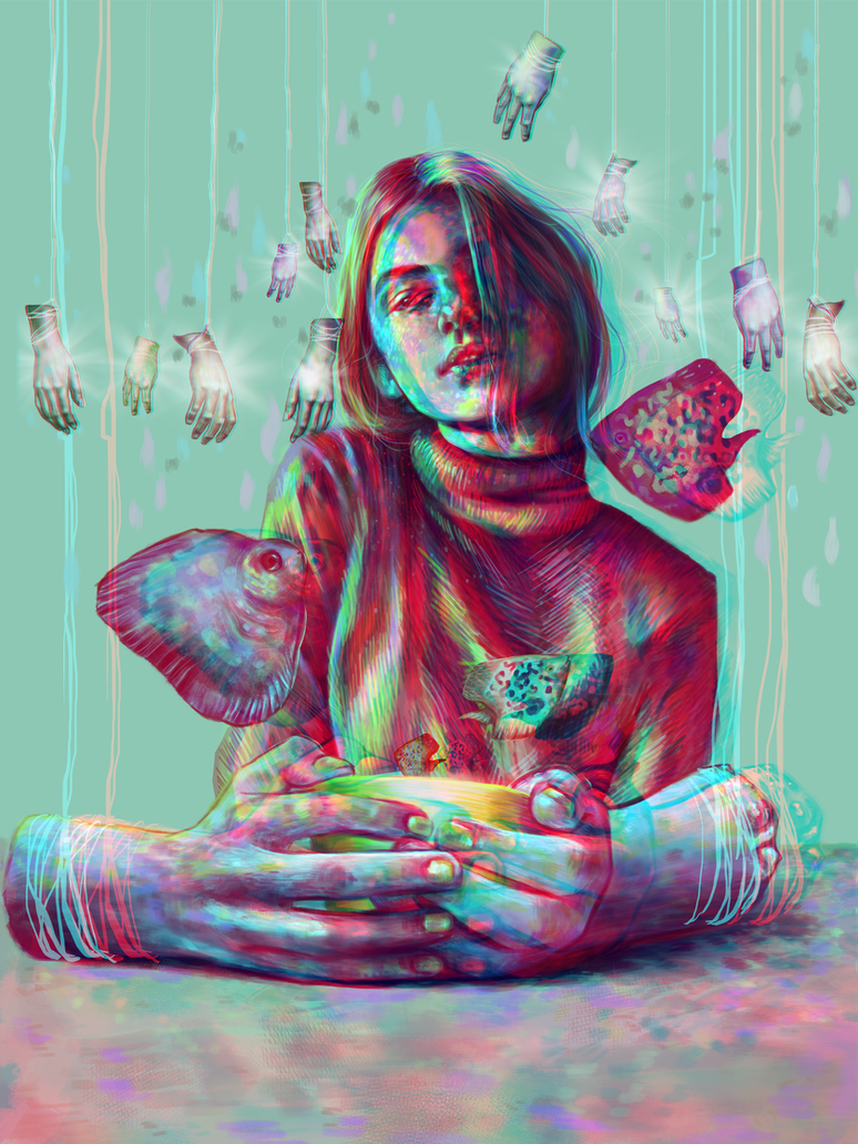 In Your Hands (check it out with anaglyph glasses) by weroni