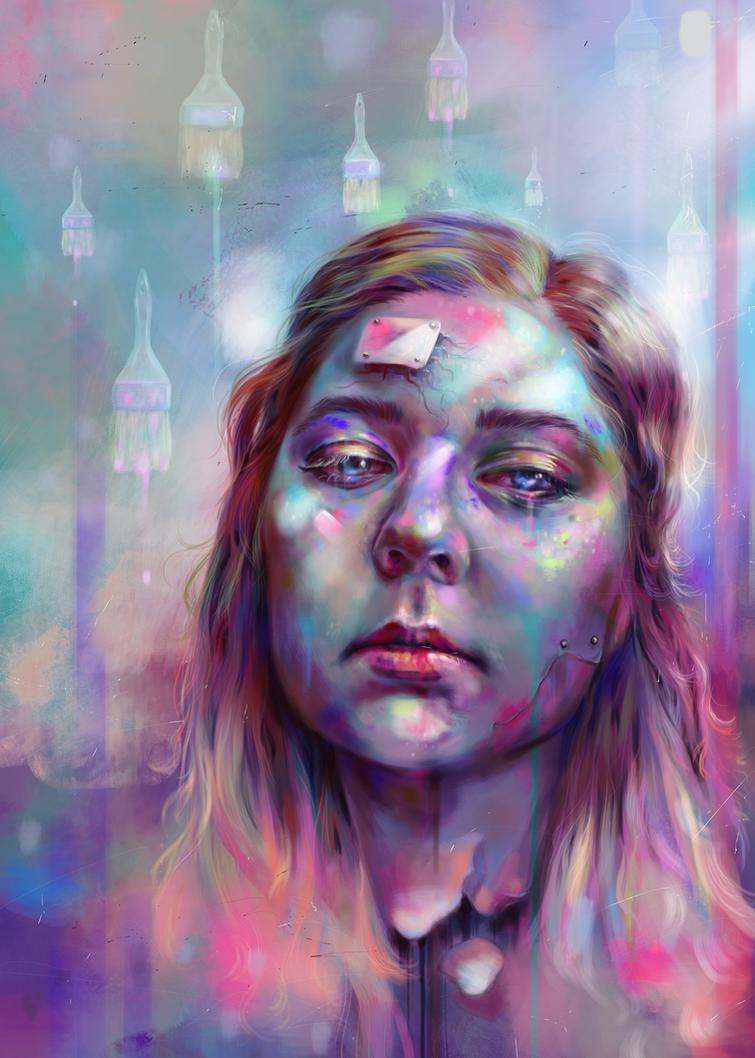 Self-portrait by weroni