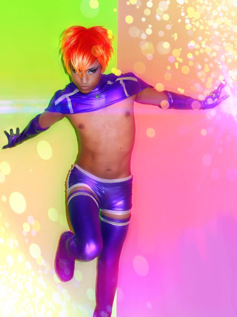 Guyfire Starfire Cosplay By XVelvetnightmarex