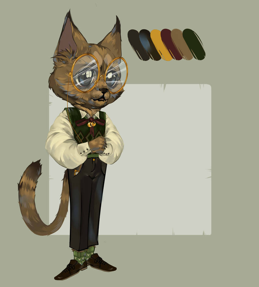 [Adopt Auction Open] Antique Cat by Dzeth
