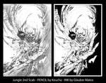 Zenescope Jungle 2nd Scab by Keu Cha - Ink