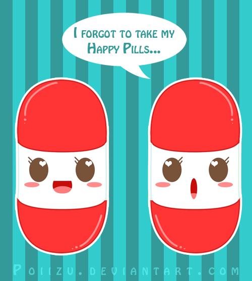 Happy Pills by Poiizu on DeviantArt