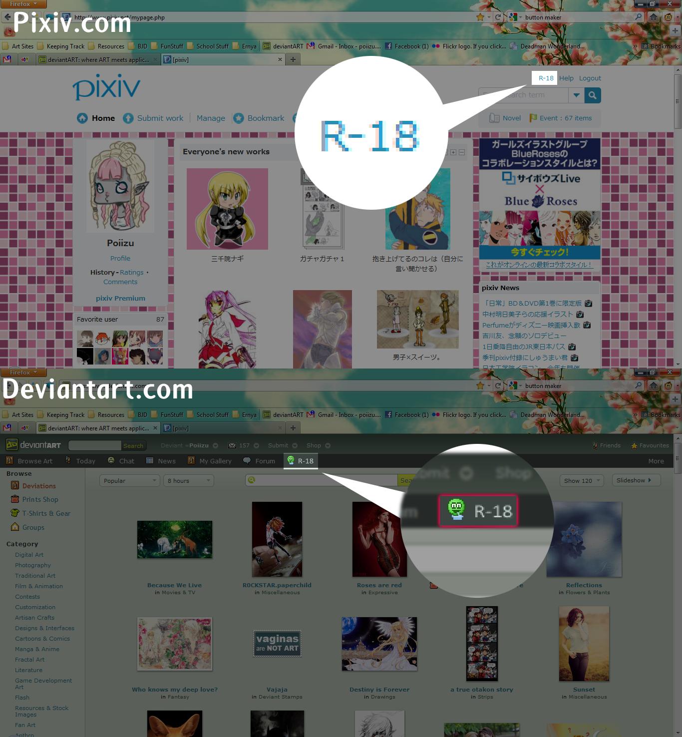 Deviantart Suggestion - R18 by Poiizu