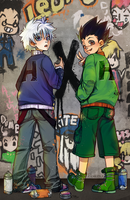 HxH Graffiti by Poiizu