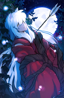 Inuyasha in the forest