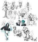 Couple a characters sketches