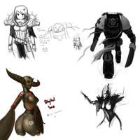 Paint chat 40k 2 by DeadXCross