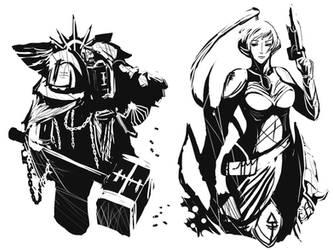 40k midnight scribbles 01 by DeadXCross