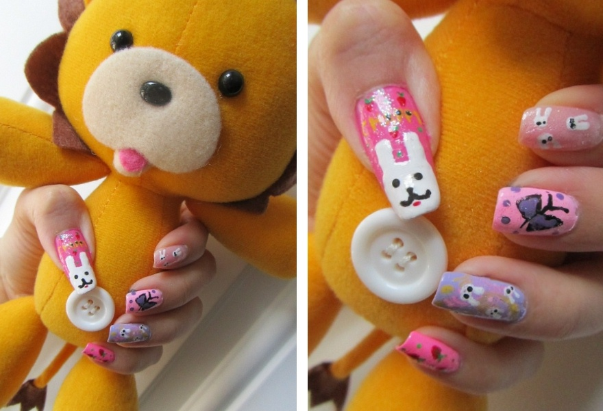 Chappy The Bunny Nail Art By LexCorp213