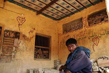 ceramic tiles and graffiti