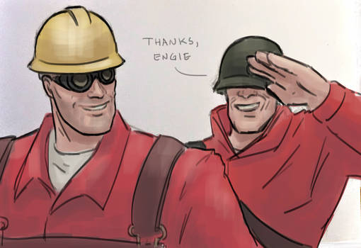 Engineer appreciation sketch
