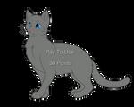P2U Feline lineart 2