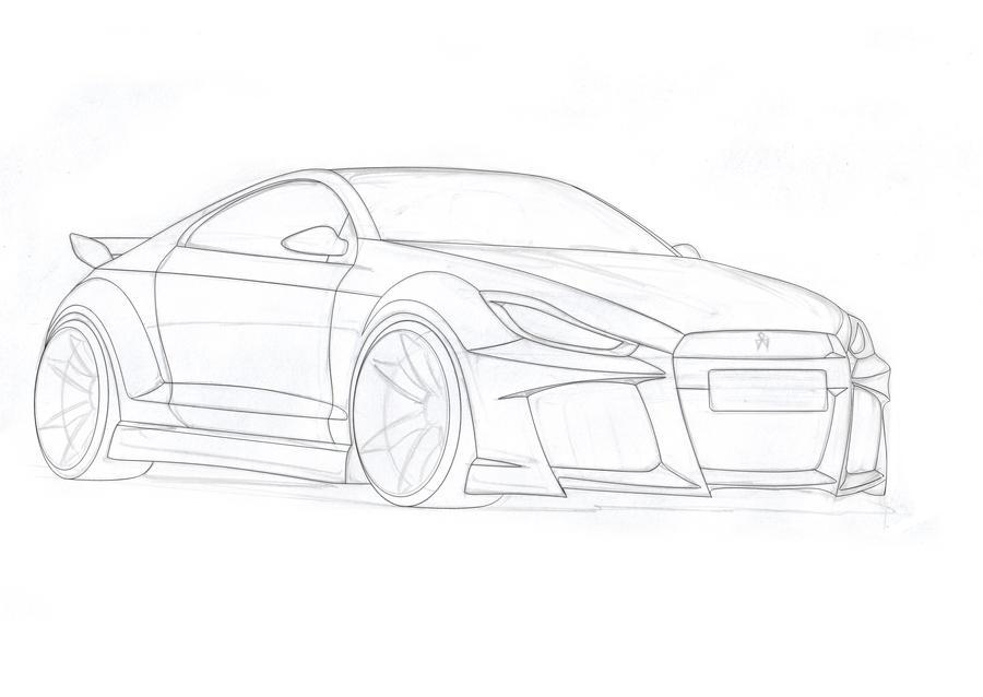 Mitsubishi-Sketch by Morfiuss