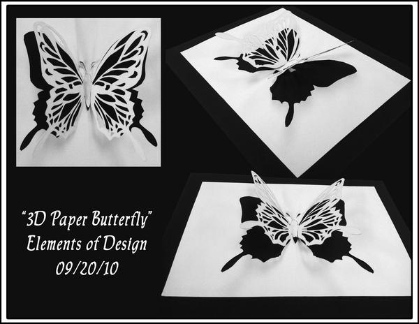 3D Paper Butterfly by HazelAlmonds on DeviantArt