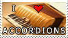 I Love Accordions Stamp by HazelAlmonds