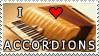 I Love Accordions Stamp by HazelAlmonds
