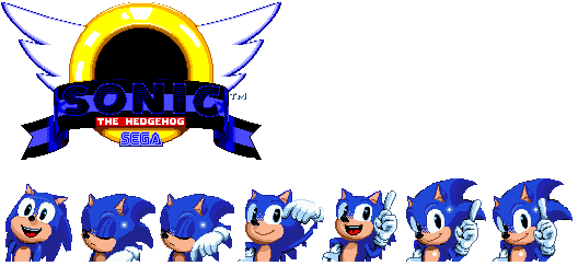 Movie Sonic In Sonic 1 Title Screen By Devyofficial On Deviantart