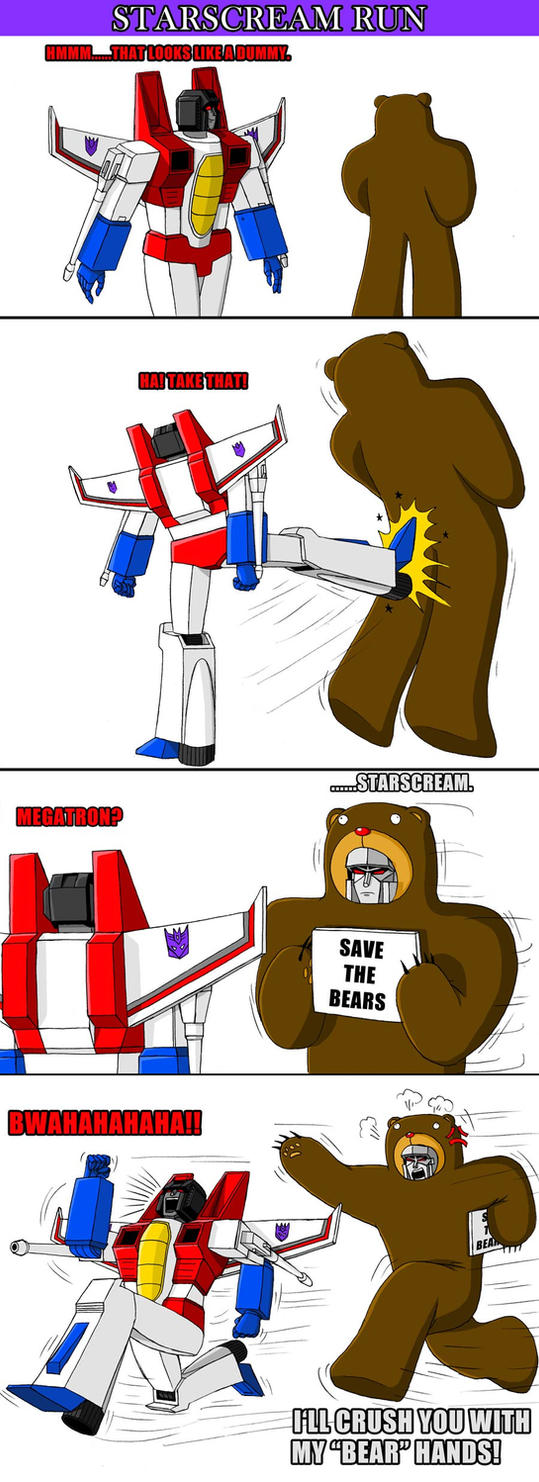 Starscream Run by DarkEnergon