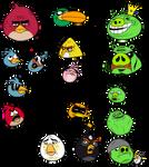 Angry Meme Birds by DarkEnergon by DarkEnergon