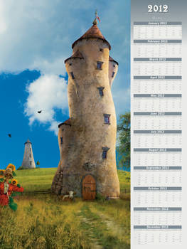 2012 Home - Poster-Type Wall Calendar
