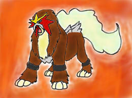 Entei by Wolfeenix