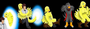 Comission: Chocobo Living Suit (Chocobo TF TG) by Avianine
